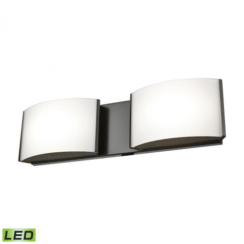 Alico Pandora LED 2 Light LED Vanity In OiLED Bronze And Opal Glass Bvl912-10-45