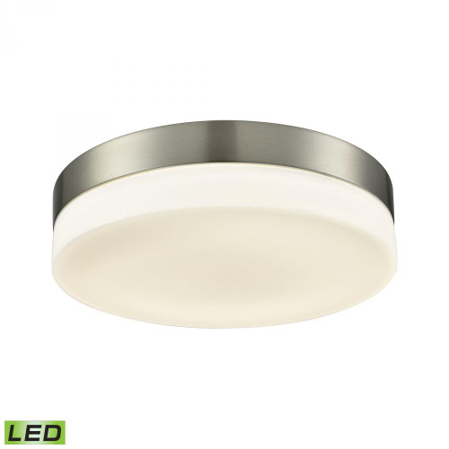 Alico Holmby 1 Light Round Flushmount In Satin Nickel With Opal Glass - Large Fml4075-10-16M