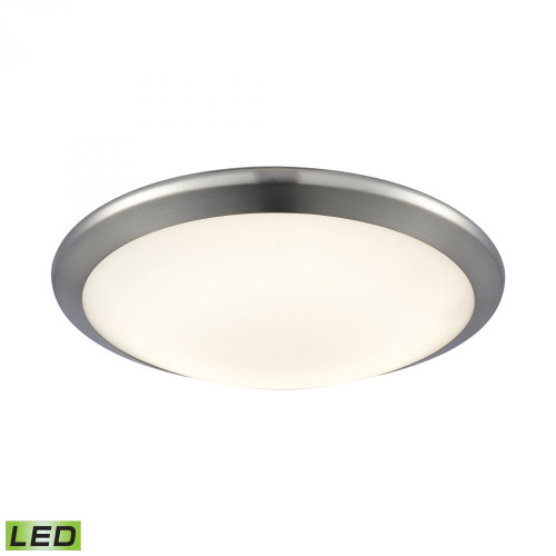 Alico Clancy Round LED Flushmount In Chrome And Opal Glass - Small Fml4525-10-15