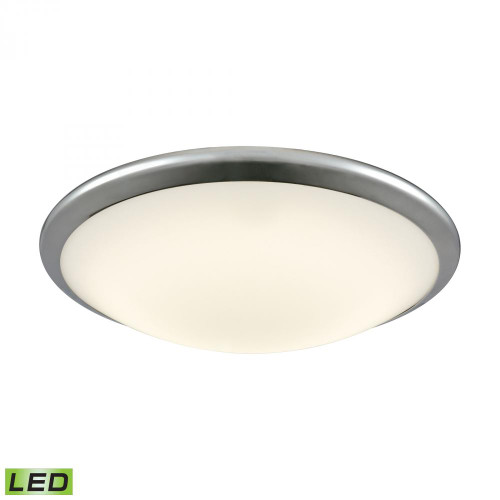 Alico Clancy Round LED Flushmount In Chrome And Opal Glass - Large Fml4550-10-15