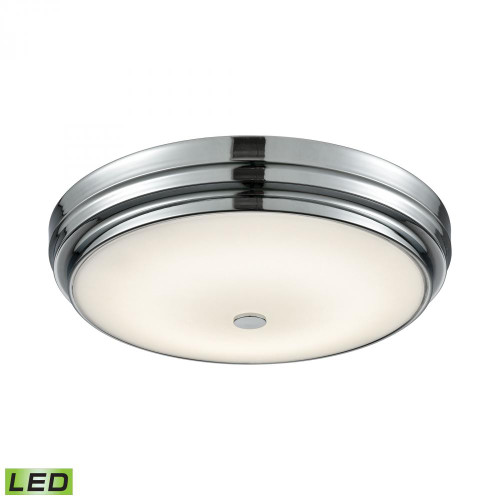 Alico Garvey Round LED Flushmount In Chrome And Opal Glass - Large Fml4750-10-15