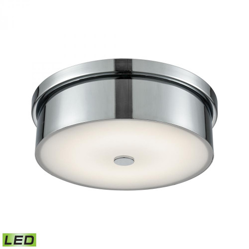 Alico Towne Round LED Flushmount In Chrome And Opal Glass - Small Fml4925-10-15