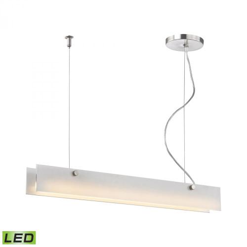 Alico Iris 1 Light Aluminum LED Linear Suspension Chandelier-LC4020-10-98