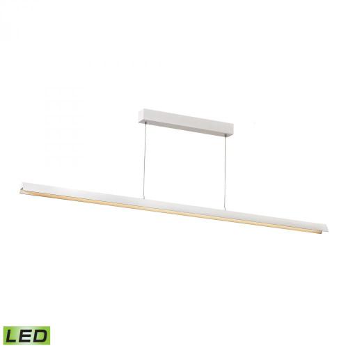 Alico Tent 1 Light Matte White LED Linear Suspension Chandelier-LC4200-0-30