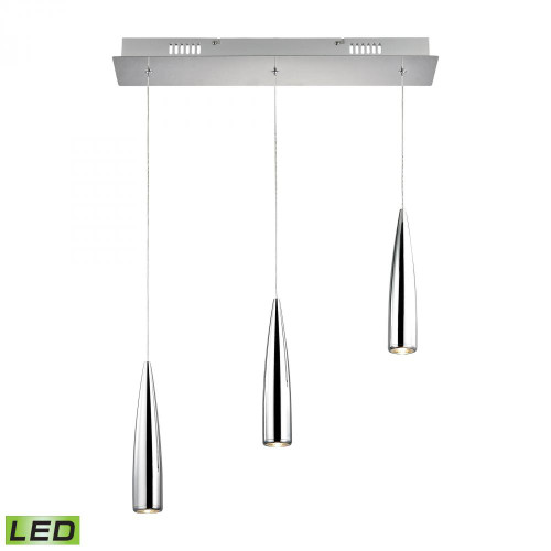Alico Century 3 Light Chrome Linear Suspension Chandelier-LC703-15-15