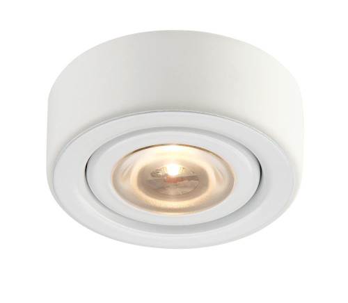 Alico Eco 1 Lamp LED Puk Light In White With Clear Glass Mle-101-30