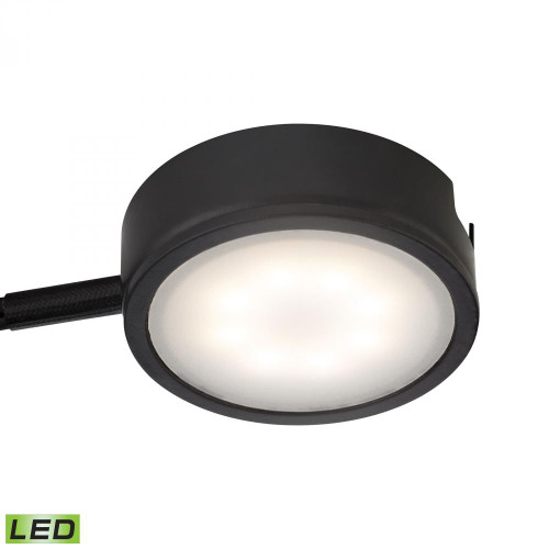 Alico Tuxedo 1 Light LED Undercabinet Light In Black With Power Cord And Plug Mle301-5-31