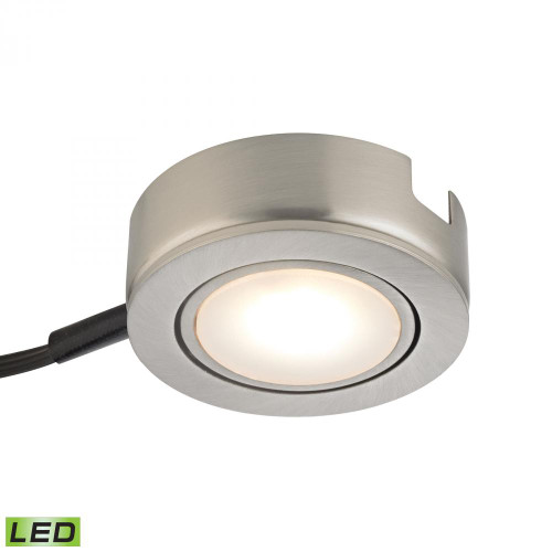 Alico Tuxedo Swivel 1 Light LED Undercabinet Light In Satin Nickel With Power Cord And Plug Mle423-5-16Mk