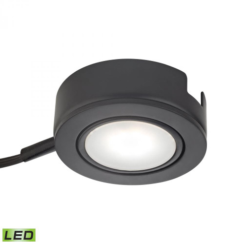 Alico Tuxedo Swivel 1 Light LED Undercabinet Light In Black With Power Cord And Plug Mle423-5-31K