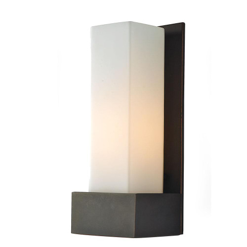 Alico Solo Tall 1 Light Sconce In Oil Rubbed Bronze With White Opal Glass Ws121-10-45