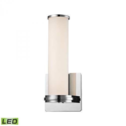 Alico Baton 1 Light LED Wall Sconce In Chrome And White Opal Glass Wsl1301-10-15