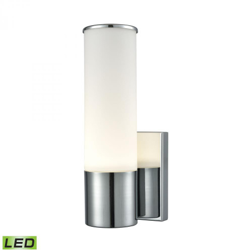 Alico Maxfield 1 Light LED Wall Sconce In Chrome And Opal Glass Wsl825-10-15