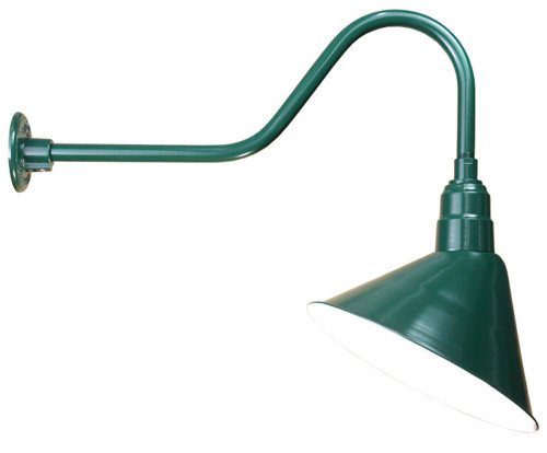 American Nail Plate 14 Inch Angled Sign Lighter/ wall washer Green Outdoor Wall Light-A814-E6-102