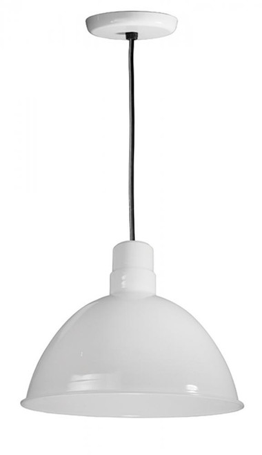 American Nail Plate 16 Inch All White Pendant Light-D616-BLC-44