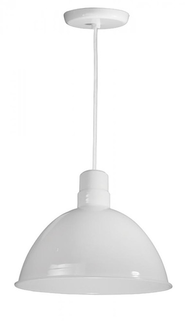 American Nail Plate 16 Inch All White Pendant Light-D616-WHC-107