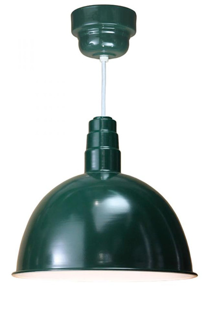 American Nail Plate All LED Dome Shade Green Pendant Light-D618-M024LDNW40K-RTC-WHC-102