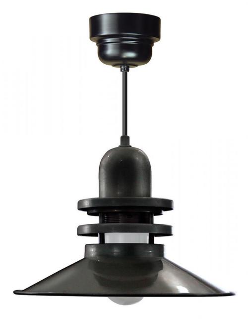 American Nail Plate 16 Inch LED Orbitor Shade Black Pendant Light-ORB16-FR-M016LDNW40K-RTC-BLC-41