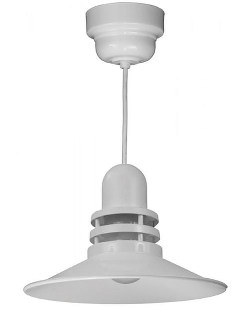 American Nail Plate 16 Inch LED Orbitor Shade White Pendant Light-ORB16-FR-M016LDNW40K-RTC-WHC-44