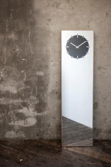 Leff Amsterdam Clock Mirror Inverse Black