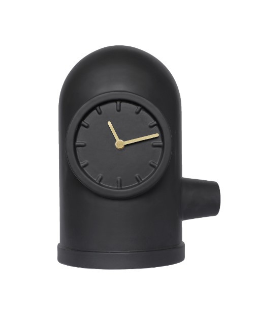 Leff Amsterdam Table Clock Base Black With Brass