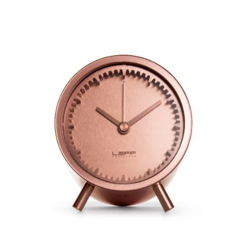 Leff Amsterdam Tube Clock Copper