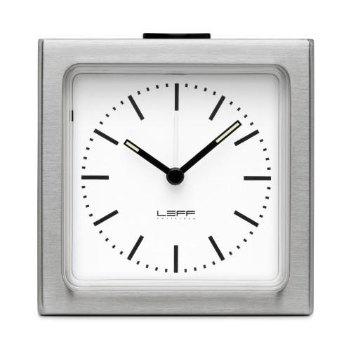 Leff Amsterdam Alarm Clock Block White Index