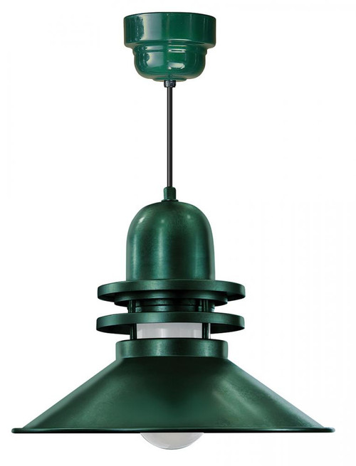 American Nail Plate 18 Inch LED Orbitor Shade Forest Green Pendant Light-ORB218-FR-M024LDNW40K-RTC-BLC-42