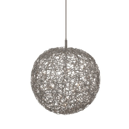 Harco Loor Ball 60 Light aluminum Chandelier-BALLHL60