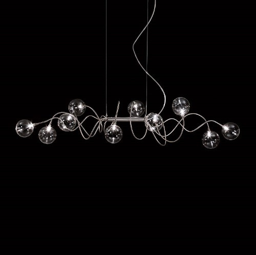 Harco Loor Big Bubbles 10 Light LED stainless steel&glass Chandelier-BIBBUBBLESKITEHL10-LED