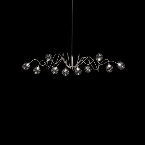 Harco Loor Big Bubbles 10 Light LED stainless steel&glass Chandelier-BIGBUBBLESSPRINGHL10-LED