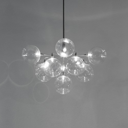 Harco Loor Cluster 11 Light LED steel Chandelier-CLUSTERHL11-LED