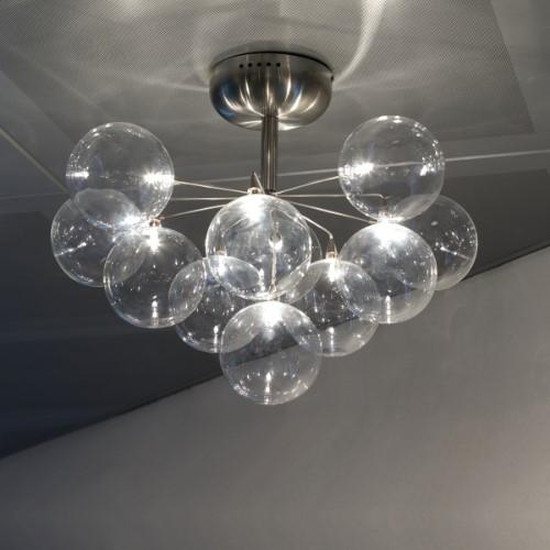 Harco Loor Cluster 11 Light stainless steel&glass LED Ceiling Light-CLUSTERPL11-LED