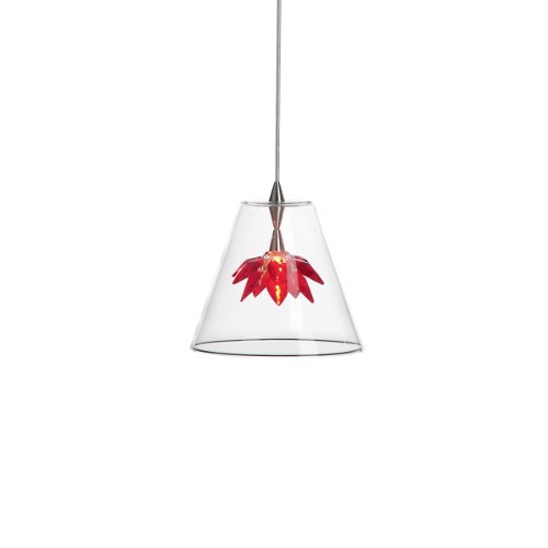 Harco Loor Flower 1 Light stainless steel&glass Chandelier-FLOWERHL1-RED