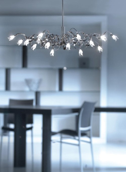 Harco Loor Guirlande 15 Light LED stainless steel&glass Chandelier-GUIRLANDEOVALHL15-LED