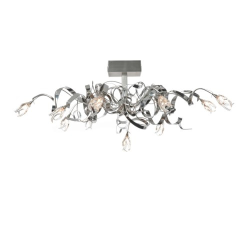 Harco Loor Guirlande Oval 10 Light stainless steel&glass Semi-Flushmount Ceiling Light-GUIRLANDEPL10-4