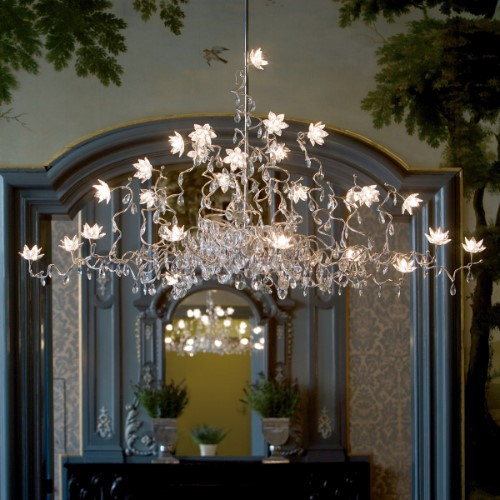 Harco Loor Jewel 2 Light4 LED stainless steel&glass Chandelier-JEWELCHANDELIERHL24-LED