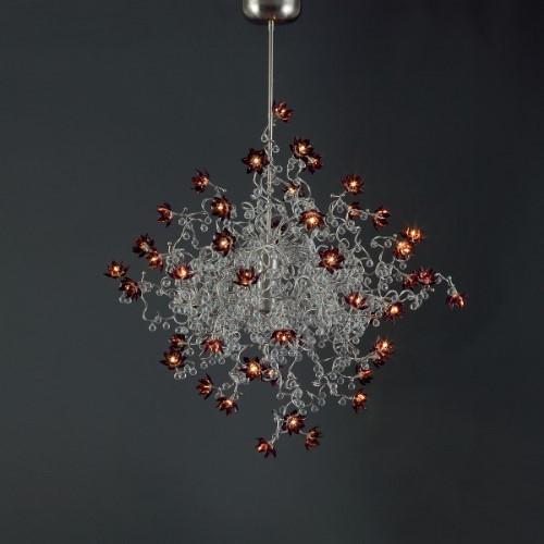 Harco Loor Jewel Chandelier Oval 30 Light LED stainless steel&glass Chandelier-JEWELDIAMONDDOUBLEHL30-LED