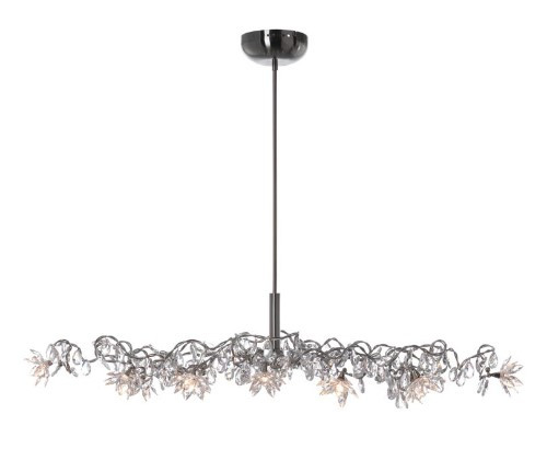 Harco Loor Jewel Oval 12 Light LED stainless steel&glass Chandelier-JEWELOVALHL12-LED