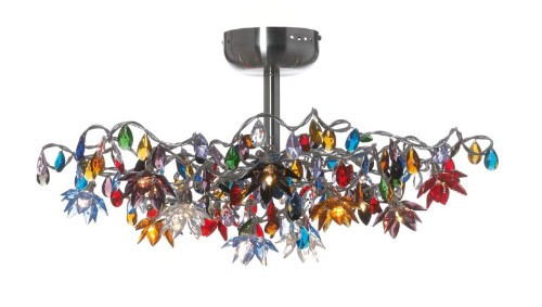 Harco Loor Jewel 12 Light stainless steel&glass Semi-Flushmount Ceiling Light-JEWELPL12