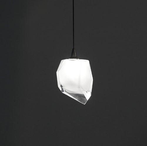 Harco Loor Rock LED 1 Light crystal Mini Chandelier-ROCKHL1-LED