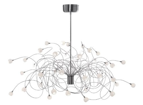 Harco Loor Snowball 40 Light LED stainless steel&glass Chandelier-SNOWBALLHL40-LED