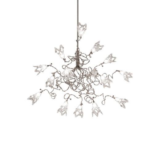 Harco Loor Snowball 15 Light LED stainless steel&glass Chandelier-SOLANGEHL15-LED