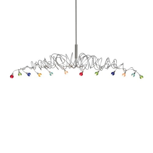 Harco Loor Strawberry 12 Light stainless steel&glass Linear Suspension Chandelier-SWEETLONGHL12