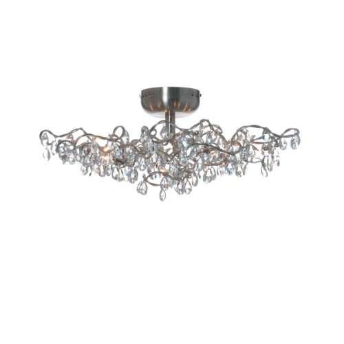 Harco Loor Tiara Transparent Flushmount Ceiling/Wall Light 12 LED-TIARAPL/WL12-LEDT