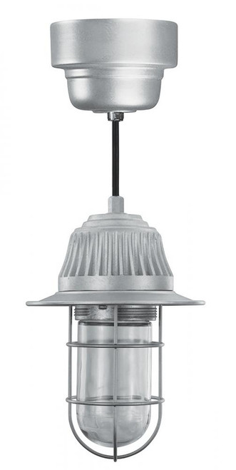 American Nail Plate 5 Inch LED Retro, Industrial, turn of the Century, Vaport Tight Gray Pendant Light-VTP100GLCL-M016LDNW40K-RTC-BLC-GUP-VTS-49