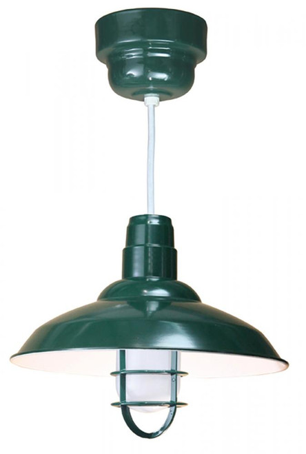 American Nail Plate 16 Inch Nostalgic, Industrial Barn Warehouse shade Green Pendant Light-W516-32-WPL-RTC-WHC-100GLFR-GUPC-102