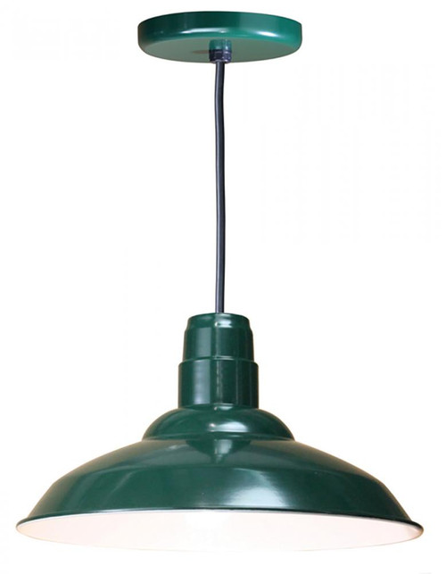 American Nail Plate 16 Inch Nostalgic, Industrial Barn Warehouse shade Forest Green Pendant Light-W516-BLC-42
