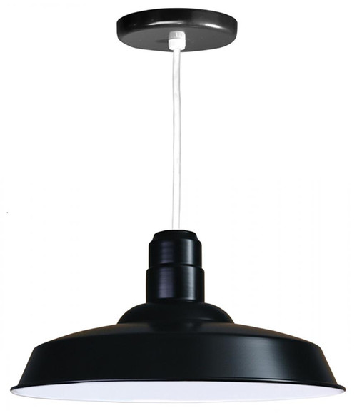 American Nail Plate 18 Inch Nostalgic, Industrial Barn Warehouse shade Black Pendant Light-W518-WHC-41