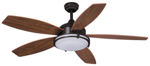 Vaxcel Tali Led 52-Inch 5-Blade Bronze Transitional LED Ceiling Fan F0038
