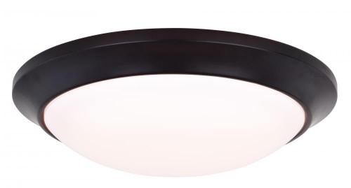 Vaxcel Leo LED 1 Light Bronze Flush Mount Ceiling Light C0125